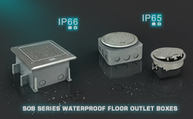 SOB Series Waterproof Floor Outlet Boxes